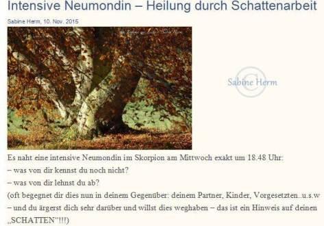 Neumond Schatten Herm